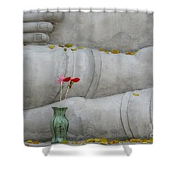 Fall Buddha #1 Shower Curtain by Nola Lee Kelsey