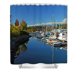 Fall Colors At English Bay Shower Curtain by Lynn Bauer
