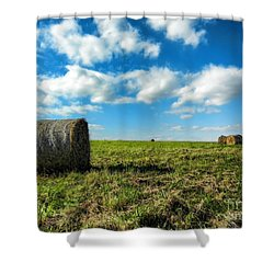 Fall Harvest Shower Curtain by Mariola Bitner
