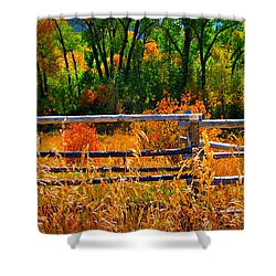 Fall  Shower Curtain by Janice Westerberg