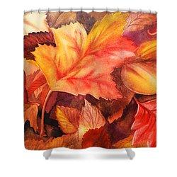 Fall Leaves Shower Curtain by Irina Sztukowski