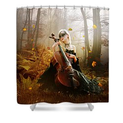 Fall Melody Shower Curtain by Mary Hood