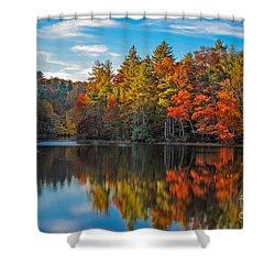 Fall Reflection Shower Curtain