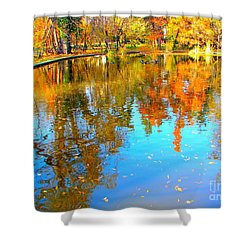 Fall Reflections Shower Curtain by Ana Maria Edulescu