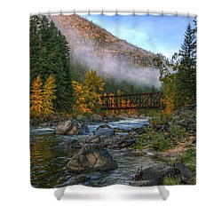 Fall Up The Tumwater Shower Curtain