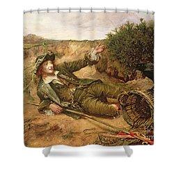 Fallen By The Wayside Shower Curtain by Edgar Bundy
