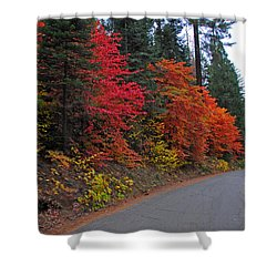 Shower Curtain featuring the photograph Fall's Splendor by Lynn Bauer
