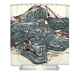 Family Faith Friends Swag Shower Curtain