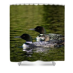 Family Swim Shower Curtain