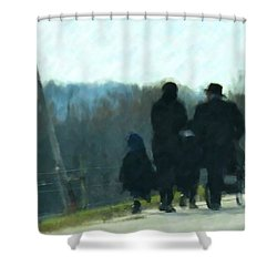Family Time Shower Curtain by Debbi Granruth