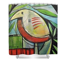 Fancy Bird Shower Curtain by Tim Nyberg