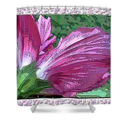 Shower Curtain featuring the digital art Fancy Finish by Debbie Portwood