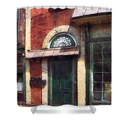 Fancy Green Door Burlington Nj Shower Curtain by Susan Savad