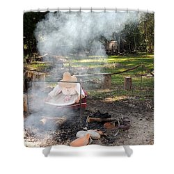 Fanning The Flames Shower Curtain by Marilyn Holkham
