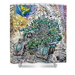 Fantasy Tank Running Wild Shower Curtain by Fabrizio Cassetta