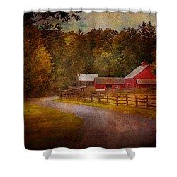 Farm - Barn - Rural Journeys  Shower Curtain by Mike Savad