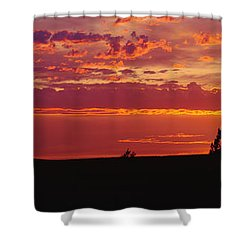 Farm Sunset Shower Curtain by Joe Sohm and ChromoSohm and Photo Researchers