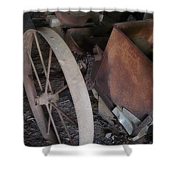 Farm Tool Shower Curtain by Kerri Mortenson