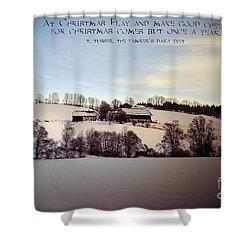 Farmer's Christmas Shower Curtain by Sabine Jacobs