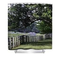 Farmland Shade Appomattox Virginia Shower Curtain by Teresa Mucha