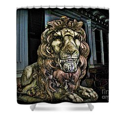 Farnam Manor Haunt Shower Curtain by Joan  Minchak
