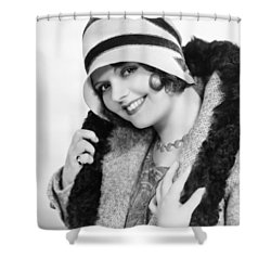 Fashion: Cloche Hat, 1929 Shower Curtain by Granger