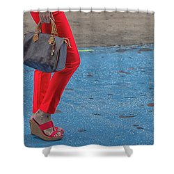 Fashionably Red Shower Curtain by Karol Livote