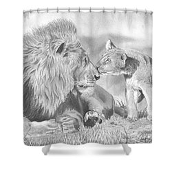 Father And Cub Shower Curtain