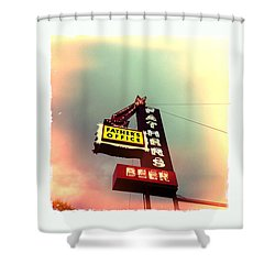 Father's Office Shower Curtain by Nina Prommer