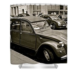 Shower Curtain featuring the photograph Favored Car by Eric Tressler