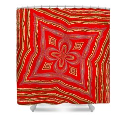 Favorite Red Pillow Shower Curtain by Alec Drake