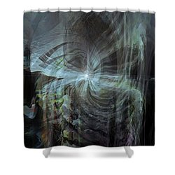 Fear Of The Unknown Shower Curtain by Linda Sannuti