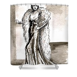 Feather Boa Shower Curtain by Mel Thompson