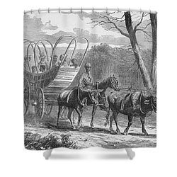 Federal Camp Contraband, 19th Century Shower Curtain by Photo Researchers