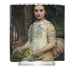 Feeding The Rabbit   Shower Curtain by Kate Perugini