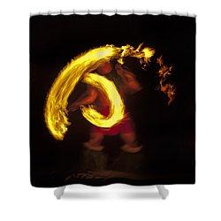Feel The Heat Shower Curtain by Mike  Dawson