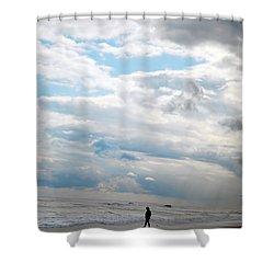 Feeling Small Shower Curtain by Lori Tambakis