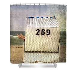 Feet And Beach Chair Shower Curtain by Joana Kruse