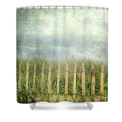 Fence Shower Curtain by Joana Kruse