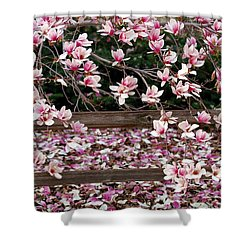 Shower Curtain featuring the photograph Fence Of Flowers by Elizabeth Winter
