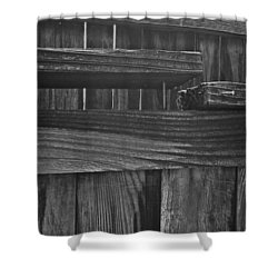 Fence To Nowhere Shower Curtain by Bill Owen