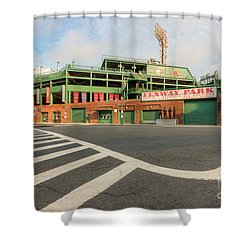 Fenway Park II Shower Curtain by Clarence Holmes