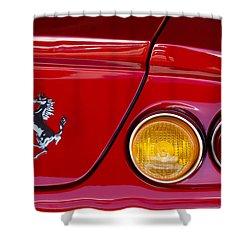 Ferrari Taillight Emblem 2 Shower Curtain by Jill Reger