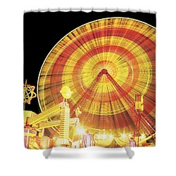 Ferris Wheel And Other Rides, Derry Shower Curtain by The Irish Image Collection