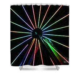 Ferris Wheel Shower Curtain by Peter Piatt
