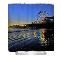 Ferris Wheel Sunset Shower Curtain