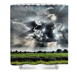 Field Of Beams Shower Curtain
