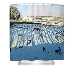 Fields Of Shadows Shower Curtain by Andrew Macara