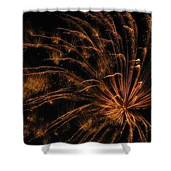 Fiery Shower Curtain by Rhonda Barrett