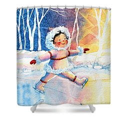 Figure Skater 11 Shower Curtain by Hanne Lore Koehler
